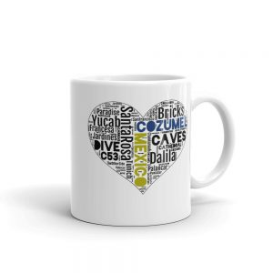 Cozumel dive sites heart mug