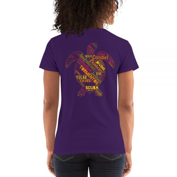 Cozumel turtle dive site t-shirt in purple