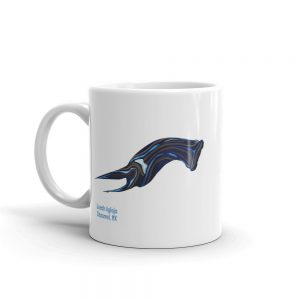 Mug with Leech Aglaja headshield slug illustration
